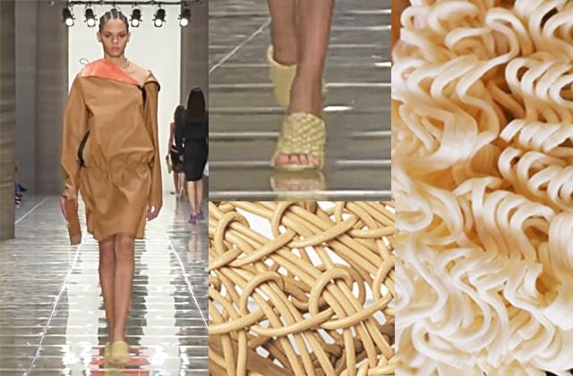 Chaussures Ces chaussures de luxe sont-elles inspirées des nouilles instantanées ?
