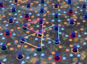 Jouet Elastium : le jeu de société où l'on contrôle des territoires… avec des élastiques