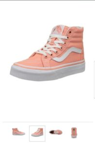 Chaussures Chaussures Okay SK8-HI Zip Desolate tract Flower/Appropriate White – Vans du 32 au 34