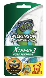 Rasage Lot de 8 rasoir Wilkinson Xtreme 3 Pure Sensitive