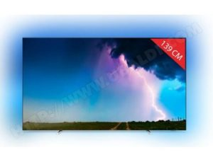 Jeux video TV OLED 55″ Philips 55OLED754 – UHD 4K, HDR, Shipshape TV, Ambilight 3 Côtés, Dolby Vision / Atmos (By process of ODR 100€)