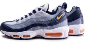 Chaussures Baskets basses Nike Air Max 95 SE – Bleue et Orange, Tailles 40, 42 et 43