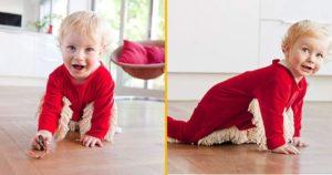 Bebe [TOPITRUC] Une grenouillère serpillière pour que bébé fasse la poussière