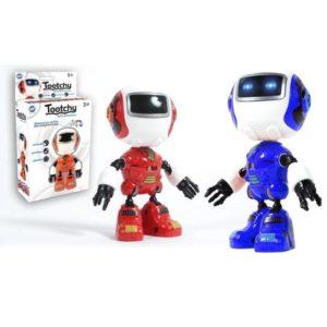 Jouet Jouet Robot Tootchy métal – 12 cm, sonore, lumineux (Modèle aléatoire)