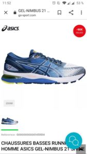 Chaussures de sport CHAUSSURES BASSES RUNNING HOMME ASICS GEL-NIMBUS 21 SHINE