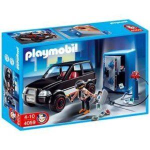 Jouet Jouet Playmobil 4059 Voiture & Cambrioleur de Coffre-fortress
