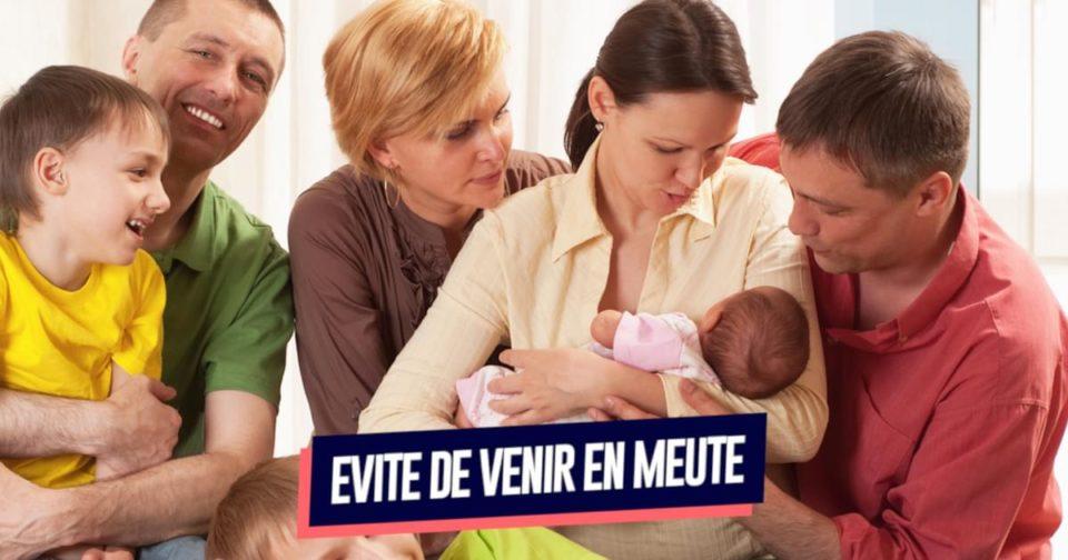 Bebe Top 10 des règles à suivre quand on visite un nouveau-né