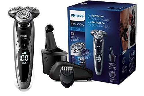 Rasage Rasoir électrique Philips Series 9000 S9711/32 avec Système de Nettoyage SmartClean et Tondeuse Barbe