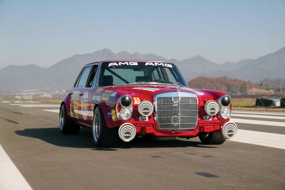 Jouet Une réplique de Mercedes 300 SEL Crimson Pig en vente !