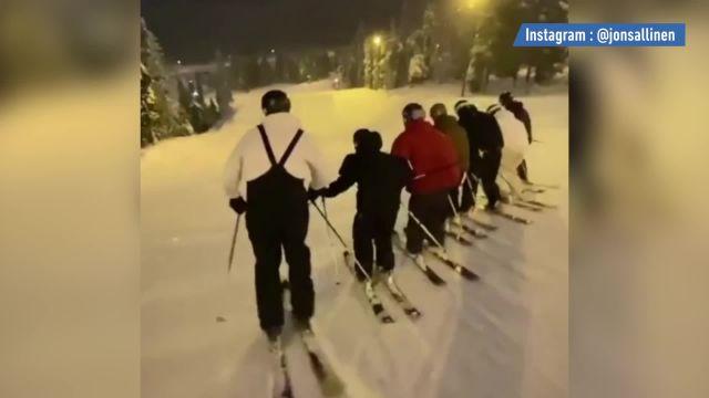 Ski Ski freestyle – WTF – WTF : un saut groupé à 7 skieurs fait le buzz
