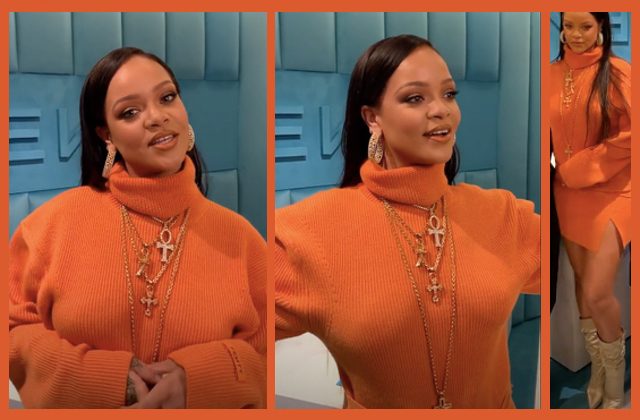 Bijoux Obtain The Compare de Rihanna : shoppe son ensemble orange vif !