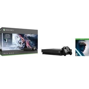 Jeux video Pack Console Microsoft Xbox One X 1To Star Wars Jedi : Fallen Expose + 1 mois d'essai au Xbox Reside Gold et au Xbox Game Pass