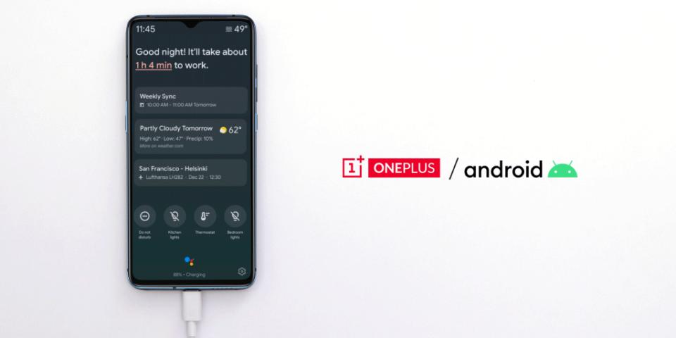 Musique L'Ambient Mode de Google Assistant disponible chez OnePlus