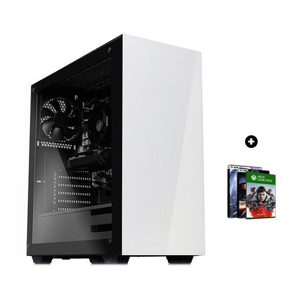 Jeux video PC fixe Gamer Light – Ryzen 5 3600, RX 5700 XT OC (8Go), 16Go RAM (3200 Mhz), 512Go SSD Nvme, BeQuiet! 500W bronze + 3 jeux PC offerts
