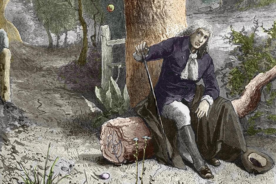 Jardin Confiné pendant la Grande Peste, Isaac Newton avait efficacement télétravaillé