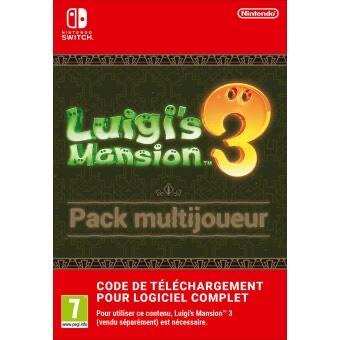 Jeux video [Adhérents Fnac] Sélection de jeux switch bénéficiant de 5€ en chèques cadeaux adhérents ex: Luigi's Mansion 3