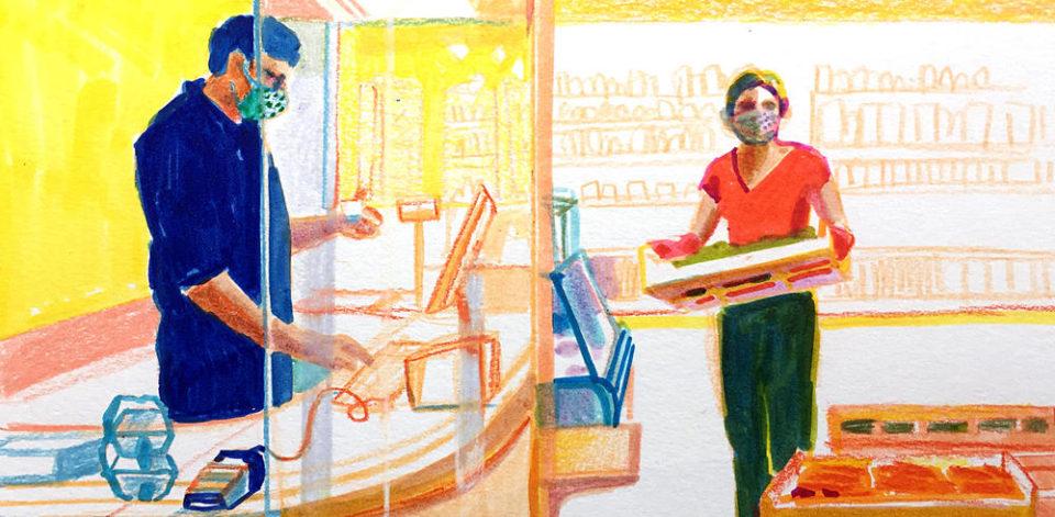 """Epicerie Camille, gérante d'une épicerie : """"Je sens monter la méfiance entre les pro-masques et les autres"""""""