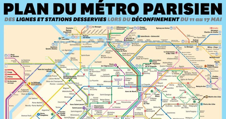 Animaux Déconfinement du 11 mai: le arrangement du métro de Paris et ses stations fermées