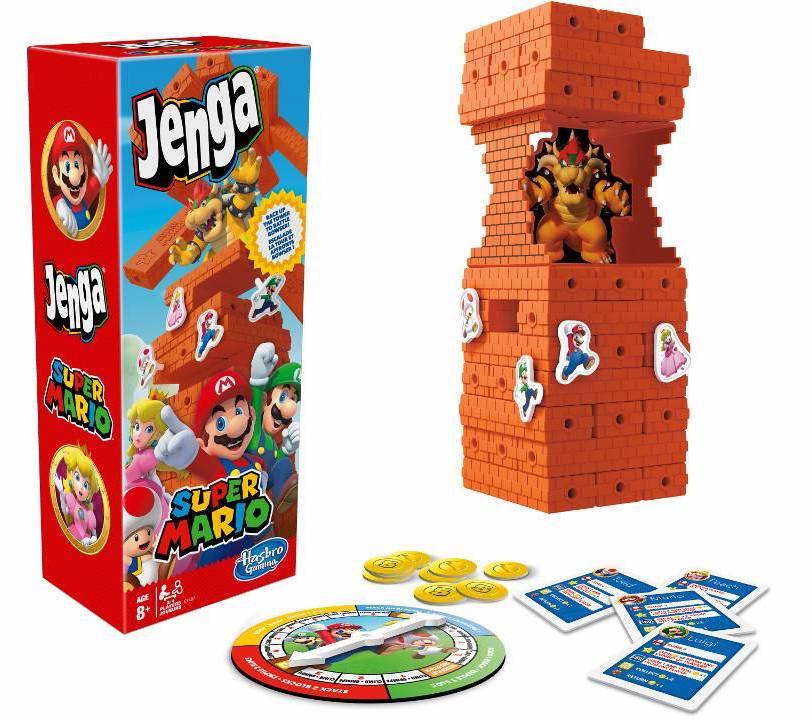 Jouets Jenga et Monopoly font la fête à Big Mario