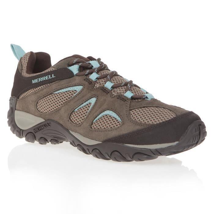 Chaussures de sport Chaussures de randonnée pour femme Merrell Yokota 2 Vent LD – Marron et Bleu, Tailles : 37 à 39