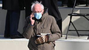 Maillot de bain Hitem americké inaugurace jsou Bernieho palčáky