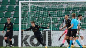 Maillot de bain European spherical-up: Barca comprise in La Liga