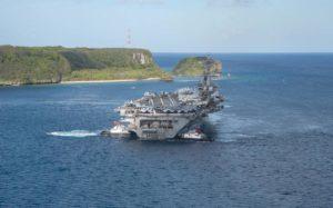 Maillot de bain U.S. carrier crew enters South Sea…