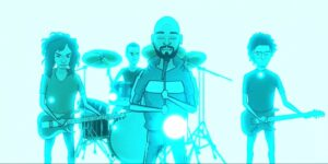 Maillot de bain Watch Metal Act Flying Cupid's Action Packed Bright Video for 'Into The Light'