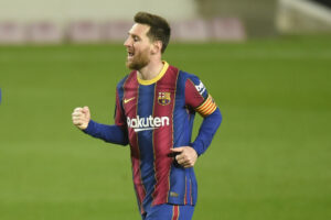Maillot de bain Lionel Messi shines on landmark occasion as Barcelona cruise to victory over Huesca