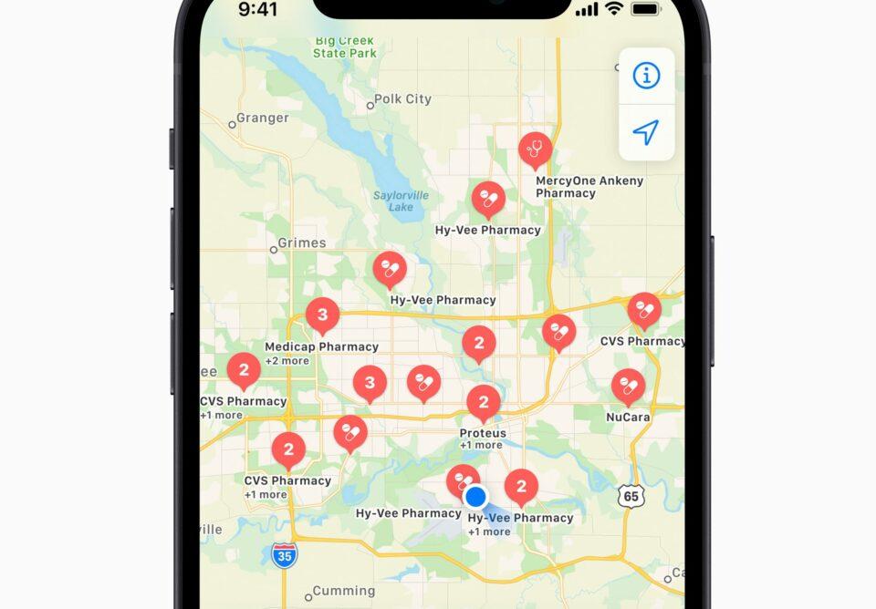 Maillot de bain Apple Maps als Pandemie-Helfer: App zeigt jetzt Corona-Impfzentren an