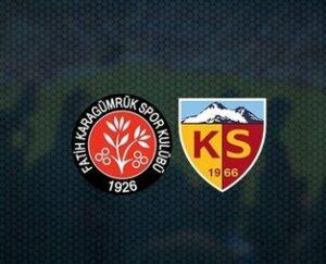 Maillot de bain CANLI   Fatih Karagümrük – Kayserispor maçı canlı anlatım izle