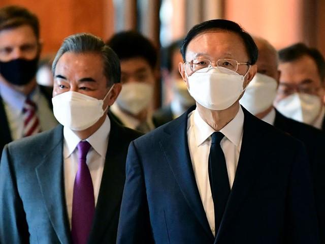Maillot de bain China Celebrates Humiliating Biden Diplomats at Alaska Assembly