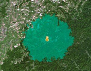 Maillot de bain Confinement : observation déterminer la zone de sortie de 10 km ?