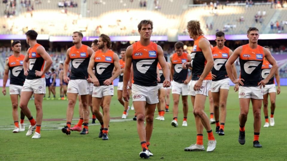 Maillot de bain Giants stung by 'embarrassing' AFL loss