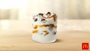 Maillot de bain McDonald's in conjunction with Caramel Brownie McFlurry at restaurants nationwide starting Would possibly possibly 3