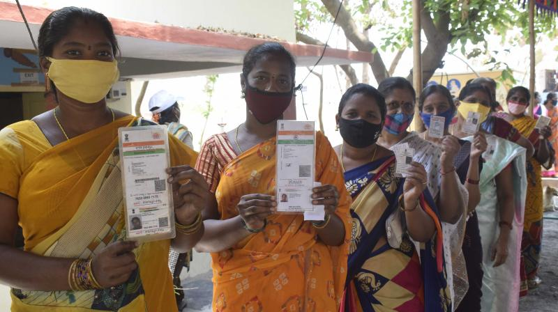 Maillot de bain Over 63 per cent polling in Andhra Pradesh MPTC and ZPTC polls