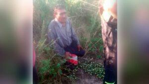 Maillot de bain Quimilí: la Policía encontró a un anciano que se había perdido en el monte