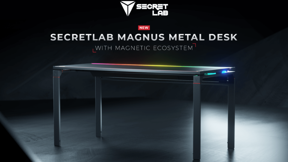 Maillot de bain Secretlab's First Desk Gives Magical Magnetic Accessories and RGB Lights