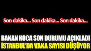 Maillot de bain Bakan Koca İstanbul'daki son durumu açıkladı