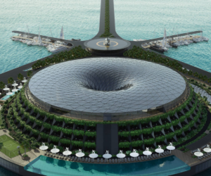 Maillot de bain Qatar eco-hotel to generate energy from rotating in ocean