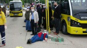 Maillot de bain Otomobil, otobüs durağına daldı: 5 yaralı