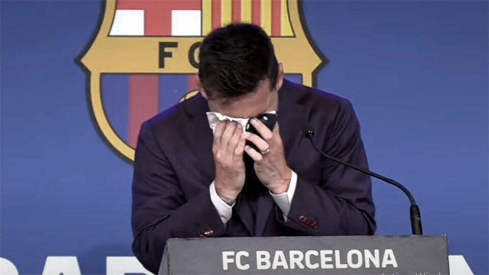 Maillot de bain Con lágrimas, Messi se despidió de Barcelona: «no estaba preparado para esto»