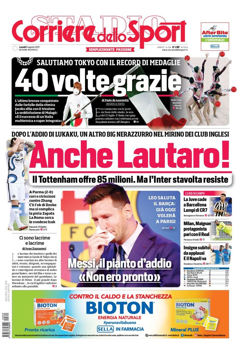 Maillot de bain This day's Papers – Lautaro possibility from Tottenham, Juve setback
