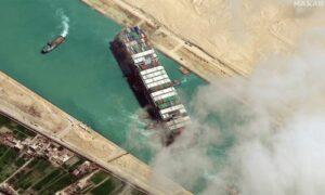 Maillot de bain Erstmals nach Blockade: «Ever Given» durchfährt wieder den Suezkanal