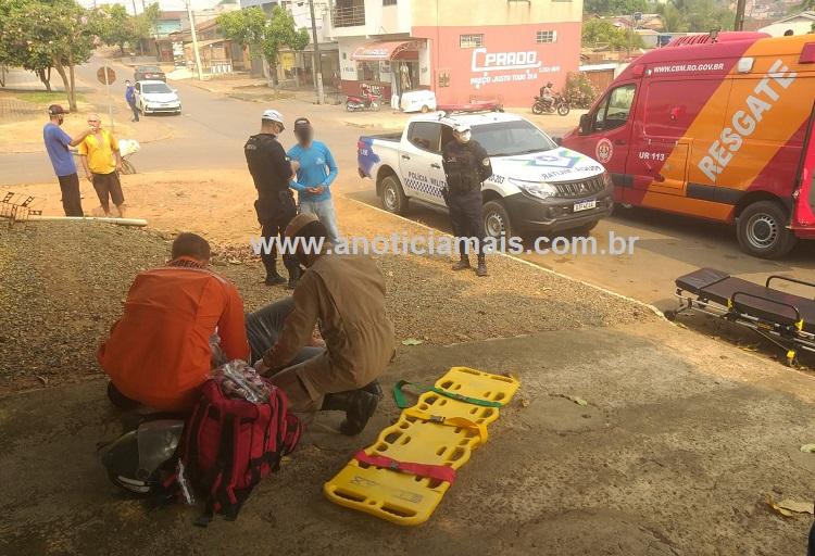 Maillot de bain JARU – Motociclista fica gravemente ferido ao ser colidido por Saveiro em cruzamento