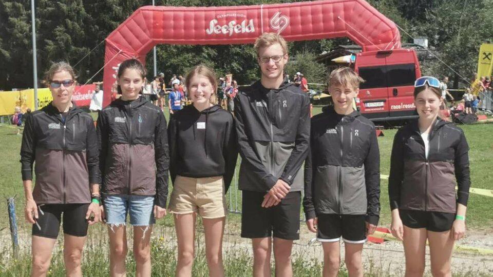 Maillot de bain Haushamer Trailrunner auf dem Podest | Landkreis Miesbach