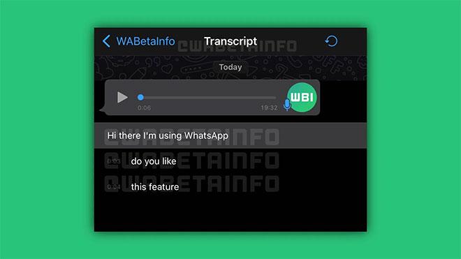 Maillot de bain WhatsApp, sesli mesajlar için otomatik çeviri özelliği geliştiriyor