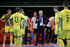 Maillot de bain Lietuvos futsal rinktinės treneris J. Ryvkinas nežino, ar liks poste ir neigia skandalą dėl žaidėjo pasitraukimo