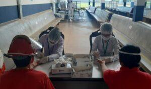 Maillot de bain Saúde fez mais de 780 testes rápidos em funcionários indústria frigorifica de Rolim de Moura
