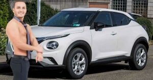 Maillot de bain Sătul să fie făcut overjoyed fără dovezi, Trăistariu și-a cumpărat Nissan Juke